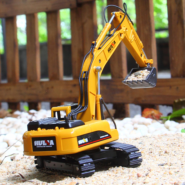 1:50 Metal Alloy Diecast Toy Excavator Truck Model Autotruck Car Model Toys For Boys Navvy Engineering Truck Collection Toys 6