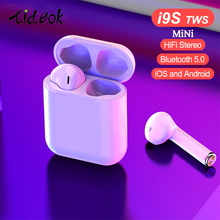 New i9S TWS Mini Wireless Earphones Bluetooth Headset Headphones Bluetooth 5.0 Stereo Sports Earbuds with Mic for Phone Andorid