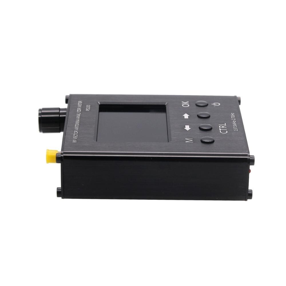 TZT N1201SA + 35MHz - 2.7GHz UV RF analyseur d'antenne testeur de compteur SWR avec coque en alliage d'aluminium PS100/PS200 - 2
