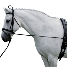 Horse Black Neck Stretcher Elastic Horse Rein Strap Rope Adjustable with Plastic Buckles Horse Equestrian Supplies 10ft