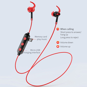 Image 3 - HOCO TF Card Bluetooth Earphones Wireless Headset with Mic for iPhone Xiaomi Samsung Stereo In Ear Hook Earbuds Sports Running