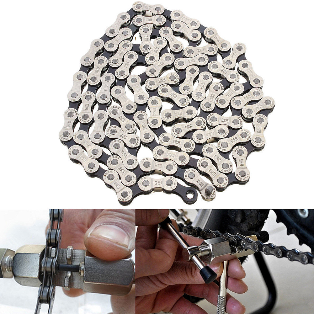 Bicycle Chain Compatibility Outdoor With 116 Links For 18//21//24 Speed Bicycle