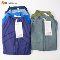 Lulu Herbst Sport Jacke Frauen Langarm Mit Daumen Loch Yoga Shirt Zipper Design Fitness Workout Gym Running Training Mäntel