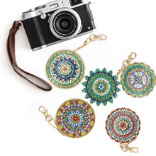 4/5pcs DIY Diamond Painting Keychain Mandala Pendant Full Drill Special Shaped Embroidery Cross Stitch Women Bag Decor