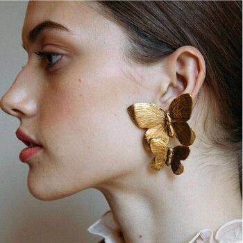 Gold Color Hollow Butterfly Earrings Elegant Big Metal Butterfly Women Stud Earrings Fashion Jewelry Accessories 2019.jpg 350x350 - Gold Color Hollow Butterfly Earrings Elegant Big Metal Butterfly  Women Stud Earrings Fashion Jewelry Accessories 2019 New