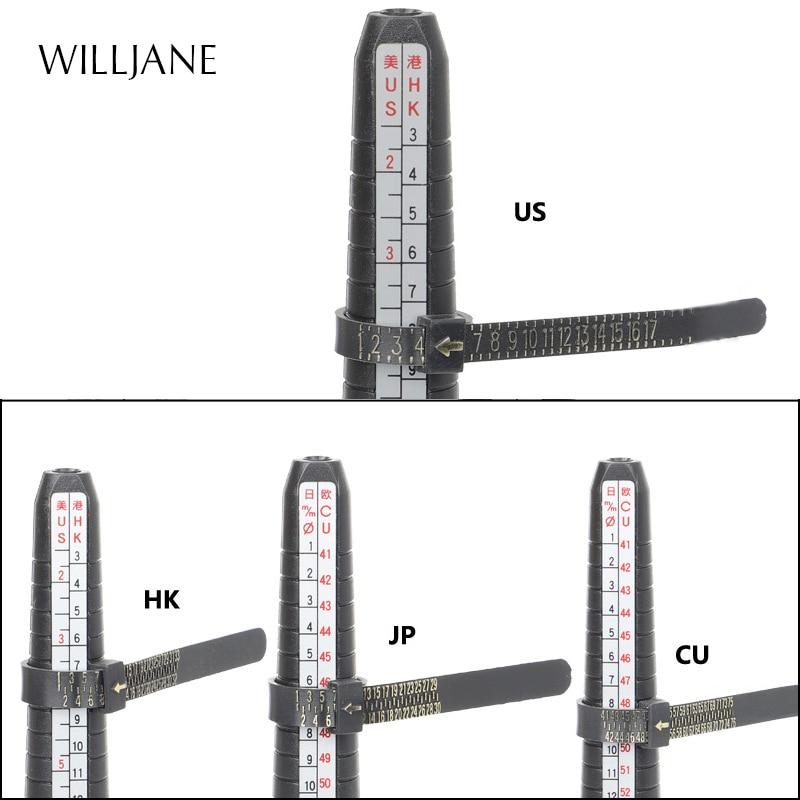 Professional Ring Mandrel Stick Ruler Measurer Jewelry Tools US UK Japan EU HK Finger Gauge Ring Sizer Measuring Size Tool Set