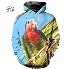 PLstar Cosmos Parrot Art Animal Tracksuit 3DPrint Hoodie/Sweatshirt/Jacket/shirts MenWomen Casual Harajuku camo colorful style-4