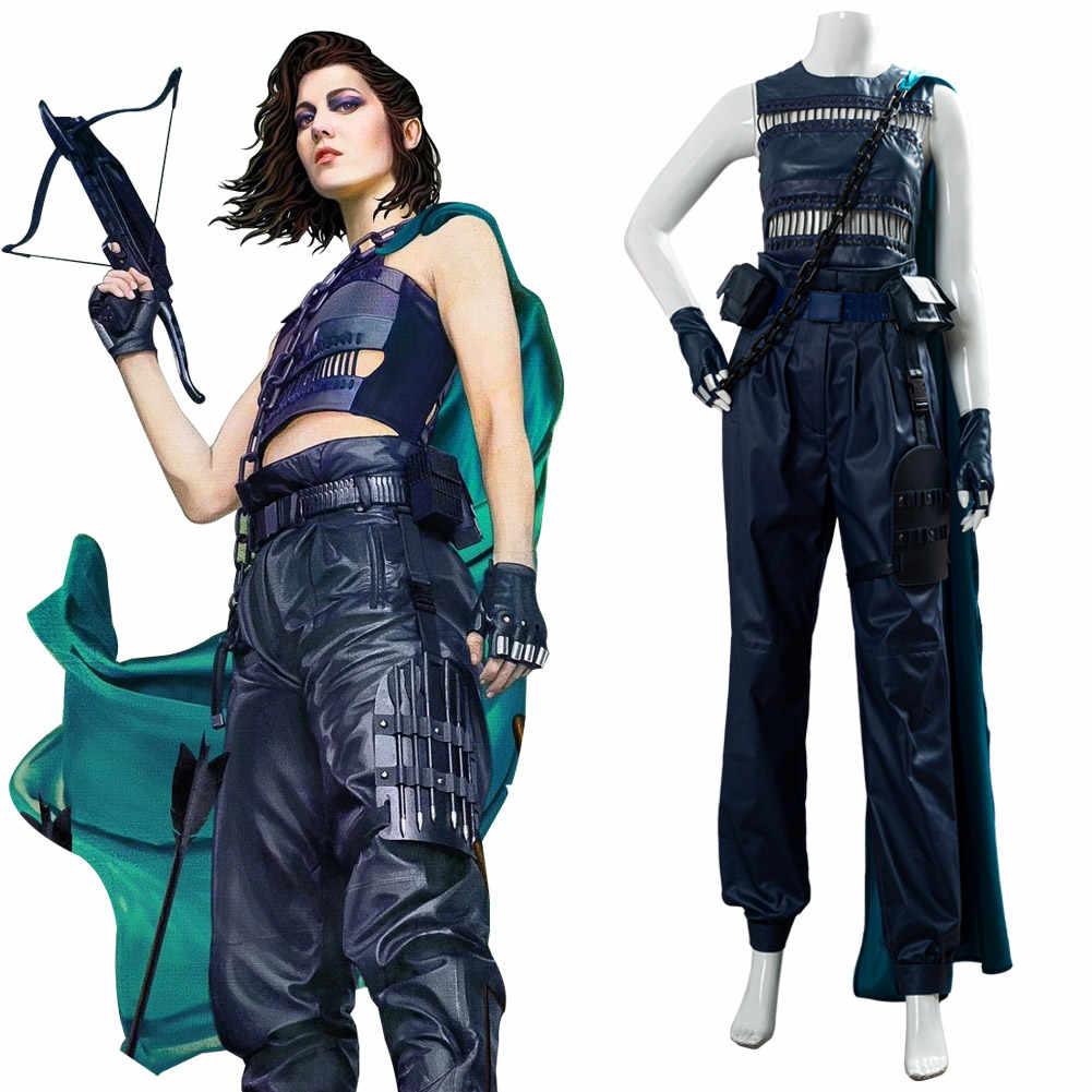 Birds of Prey Huntress Halloween Cosplay Costume Outfit Uniform Suit