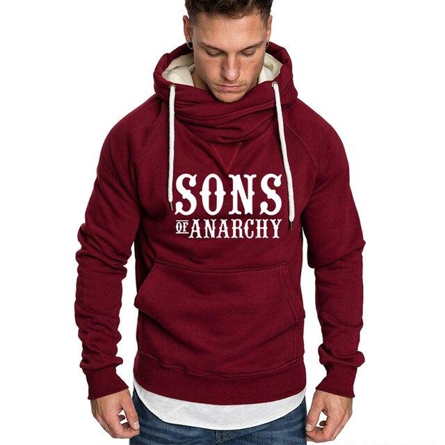 SOA Sons of anarchy the child new Fashion SAMCRO Warm Men Sportswear Hoodies Male Casual Sweatshirt Winter Fleece Hip Hop