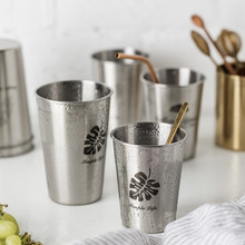 Anti-Fall Stainless Steel Water Cup 330ml-520ml Nordic Industrial Wind Juice Coffee Cup for Home Travel Office Cold Water Mug industrial water pollution