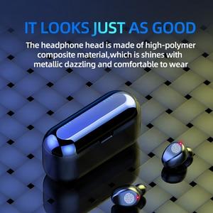 Image 4 - Новинка F9 Беспроводные Bluetooth 5,0 наушники TWS HIFI мини в ухо спортивная Гарнитура для бега Поддержка iOS/Android телефоны HD звонки