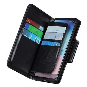 Image 5 - 6 miejsc na karty portfel klapki skórzane etui do Samsung Galaxy A10 A20 A30 A40 A50 A70 S10 S9 uwaga 10 magnetyczne zamknięcie karty kieszeń