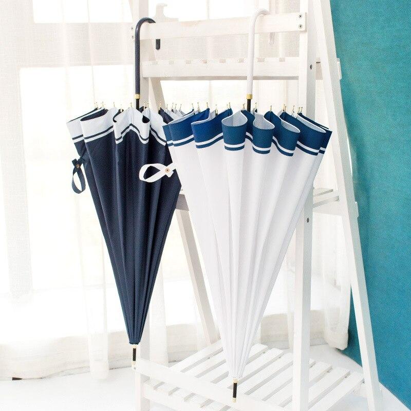 16 Bone Reinforced Big Umbrella Customizable Japanese-style Hipster Parasol Creative Rain Or Shine Dual Purpose UV-Protection Pa