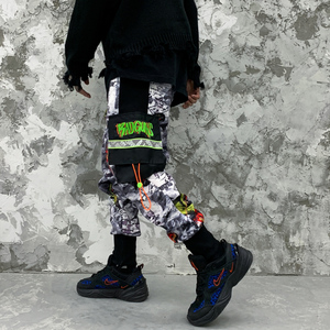 Image 3 - 11 BYBBS DARK Hip Hop Big Pocckets Graffiti Men Harem Cargo Pants 2019 Harajuku Sweatpants Joggers Trouser Streetwear Oversized