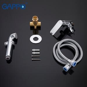 Image 5 - GAPPO G7248 1 + Y03 grifos de bidé, grifo de ducha musulmán, mezclador de bidé, pulverizador higiénico, montaje en pared de la Ducha, Shattaf
