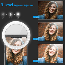 LED Selfie Ring Light Clip-On Lamp Women Novelty Makeup Tools Neon Light Sign for Photography Colors Night Beauty Fill Lights
