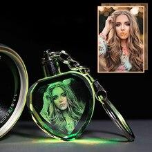 Personalizar foto personalizada álbum de fotos de cristal con cambio de Color iluminación LED Octagonal láser grabado álbum de boda para regalos