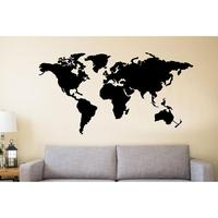 Metal Wall Art  Metal World Map Continents  Metal Wall Decor  Wall Hangings  Interior Decoration