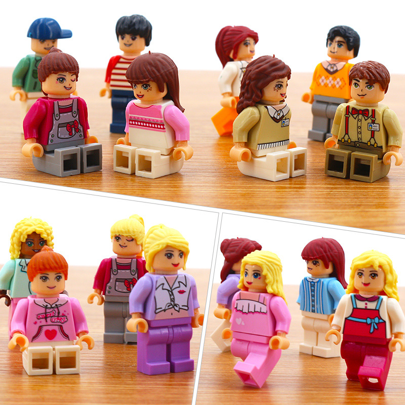 Image 5 - 36 sztuk/partia dziewczyna przyjaciel Mini Doll rysunek bloki zabawki dla dziewczynek modelu budynku zestaw cegieł zabawki dla dzieci Christmas Gift playmobilKlocki do układania   -