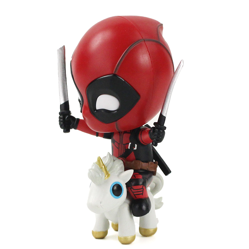 1 Pcs 9CM Deadpool and Unicorn Anime Action Figure Model collection doll toy new