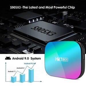 Image 2 - HK1 박스 8K 최대 4 기가 바이트 128 기가 바이트 TV 박스 Amlogic S905X3 안드로이드 9.0 스마트 TV 박스 4K 1000M 듀얼 와이파이 구글 플레이 스토어 유튜브 셋톱 박스