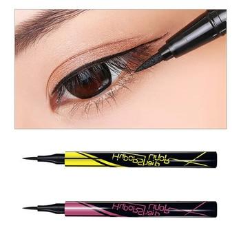 1PC Black Brown Eyeliner Pen Small Gold Pen Fast-drying Waterproof Anti-sweat Lasting Eye Liner Liquid Eye Pencil Makeup Tool 1