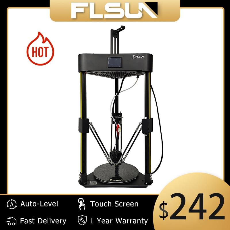 3D-принтер Flsun Q5 TMC 2208, бесшумный драйвер, автовыравнивание, 3D-принтер, возобновление сборки, 3D-принтеры TFT, 32 бита, плата Kossel