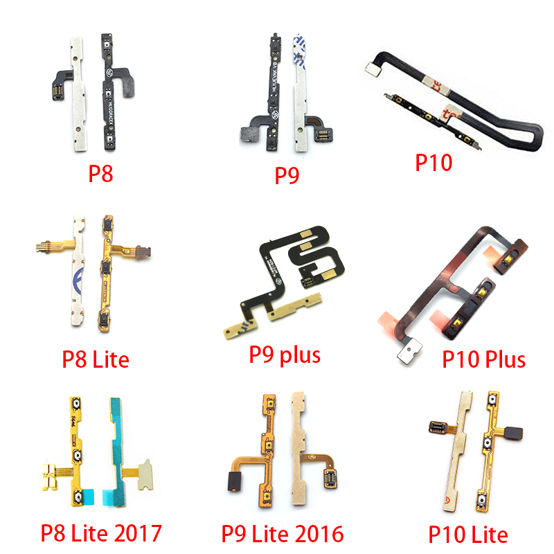 New Power On Off Volume Side Button Key Flex Cable For Huawei P8 P9 P10 Plus P20 Lite P30 Pro Replacement Parts