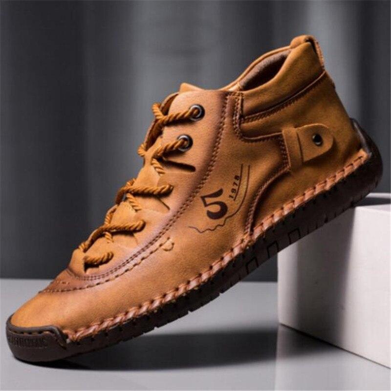 Tamanho grande sapatos de couro masculino 2020 novo casual rendas respirável dos homens sapatos de vestido formal plataforma da moda dos homens tênis mocassins