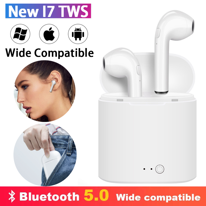 Galleria fotografica i7s Tws Wireless Headphones Bluetooth Earphones Air Earbuds Sport Handsfree Headset with Charging Box For Apple iPhone Xiaomi