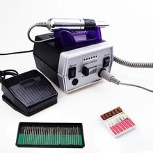 35000 RPM Leistungsstarke Electril Nagel Bohrer Maschine Nagel Datei Fräser Zubehör mit 30 stücke Nagel Bit Maniküre Werkzeug Kits