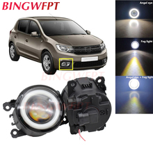 2x Car Accessories LED Fog Light Angel Eye with Glass len For Renault Sandero / Stepway Hatchback 2008-2015 For Renault TWINGO