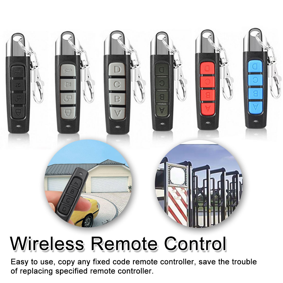 Universal Wireless Remote Control 433 Mhz Remote Control Garage Gate Door Opener Duplicator Clone Cloning Code