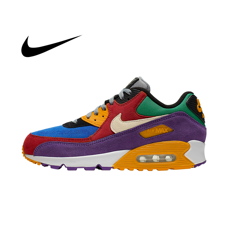 Original Authentic NIKE AIR MAX 90 ESSENTIAL Low To Help Men's Running Shoes Lightweight Comfortable Outdoor Shoes AJ1285-101 image