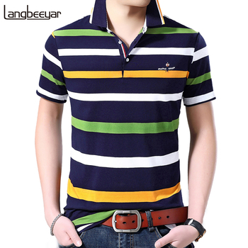 2020 New Summer Brand Mens Short Sleeve Polo Shirt Embroidery Cotton Spandex High Quality Casual Tops Fashion Men Clothes new fashion polos high quality mens print short sleeve polo cotton casual polo shirt homme comfortable