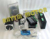 3 Axis NEMA23/34 425oz in / 1230oz in Dual shaft stepper motor& CW5045 /CW8060 Driver 4.5A / 6A 50V/80V/DC CNC Controller Kit