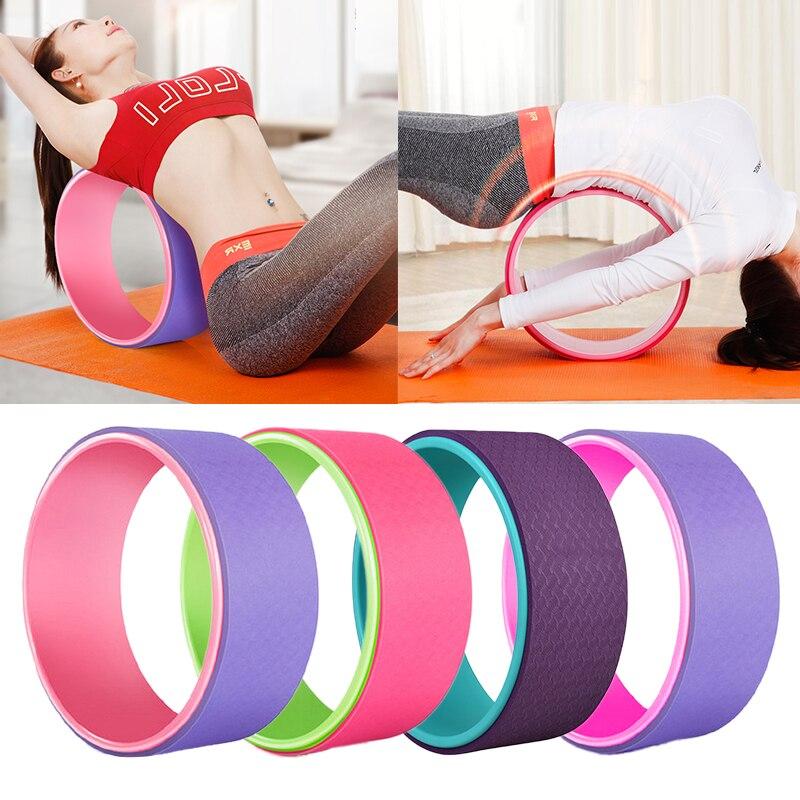 1pcs Yoga Pilates Circle Yoga Fitness Roller Wheel Back Training Tool Slimming Magic Waist Shape Pilates Ring Balance Accessory