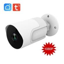 Tuya умная Wi Fi камера, 1080P беспроводная домашняя камера безопасности, наружная камера, двусторонняя аудиосвязь, обнаружение движения
