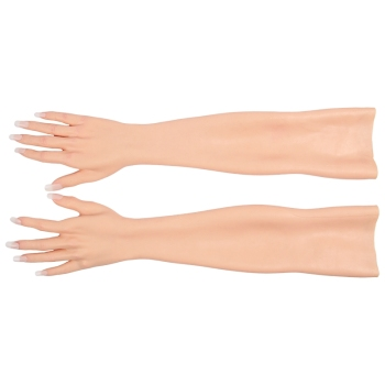 60CM Length Lifelike Realistic Soft Female Silicone Hand Glove for Crossdresser Transgender Shemale Drag Queen 3G realistic silicone lifelike soft mannequin foot ,foot fetish toymodel sexy vivid silicone female