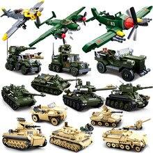 Sluban veículo militar tanque conjunto tijolos modelo 2 guerra mundial ii blindado combate blocos de construção brinquedos batalha exército ww2 ar warplane
