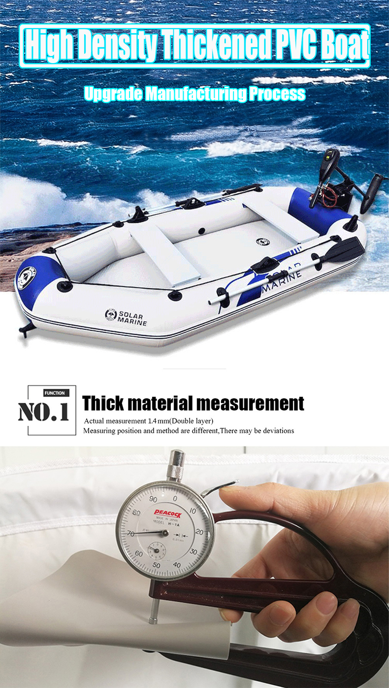 2.6 M 3-4 Person Rubber Boat Fishing Boat Inflatable Boat With Air Deck