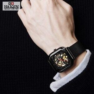 Image 5 - Haiqin 2019 Fashion Mechanische Heren Horloges Topmerk Luxe Sport Horloge Mannen Waterdicht Quartz Herenhorloge Relogio Masculino