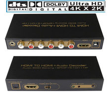Hdmi 5.1 Audio Converter Decoder Dac Dts AC3 Edid 4K * 2K Hdmi Naar Hdmi Extractor Converter Splitter digitale Spdif Arc(China)