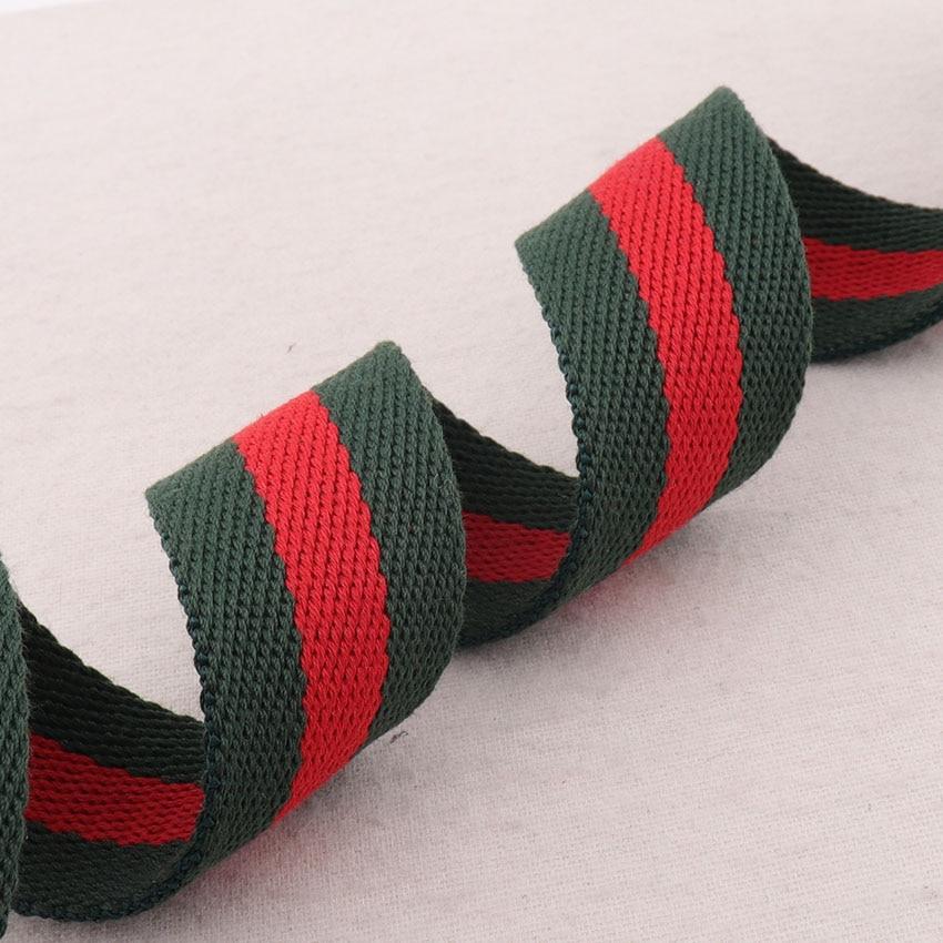 38 мм хлопковый тканый красного и зеленого цветов в полоску, лента твил тяжелый Вес Сумка-тоут на ремне сумки с ремнями Ремни ремень одной руч...