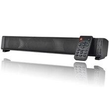 Саундбар bluetooth динамик звуковая панель беспроводной портативный hifi ТВ aux Rechargeabl колонки с пультом дистанционного управления для ПК Surround bar