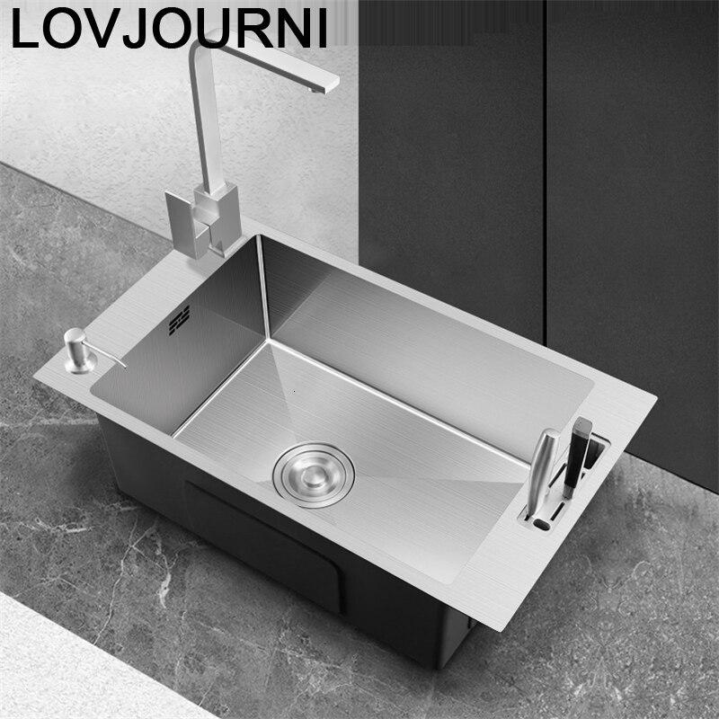 Faucet Lavandino Acero Inoxidable Escurridor Evier Inox Kitchen Cuba Pia Cozinha Fregadero De Cocina Vegetable Wash Sink