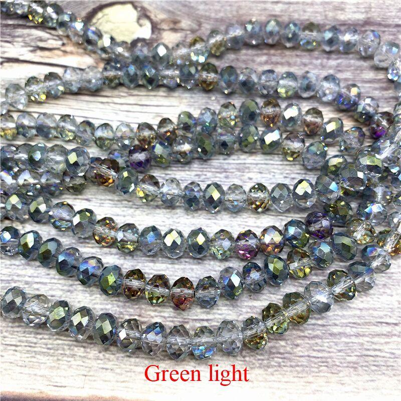 2X3/3X4/4X6/6X8 мм хрустальные бусины AB разноцветные стеклянные бусины Sapcer для ювелирных изделий ручное кольцо Ожерелье Изготовление DIY - Цвет: Green light