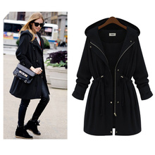 Fashion Plus Size Autumn Winter Women Hooded Puff Sleeve Coat for 2019 Cotton Jacket