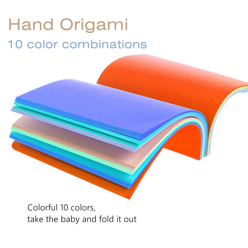 Good Origami Paper Handmade Paper Color Paperboard  Kindergarten Office Color Paper Paper-cut 80g 100sheets/bag Square Origami