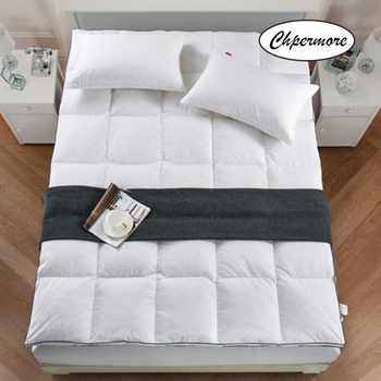 Chpermore 100% White goose down feather Mattress 10cm Five-star hotel thickening Tatami Cotton Mattress Cover King Queen Size